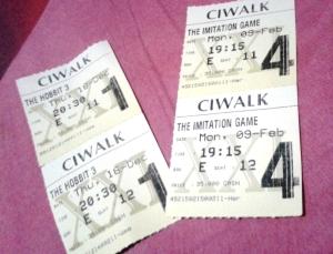 tiket 2 film terakhir yg ditonton. nomor bangkunya sama persis! XD