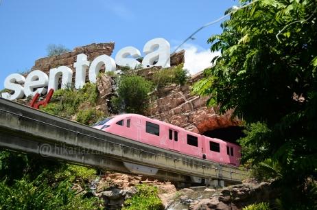 kereta yg bolak-balik Vivo City - Sentosa