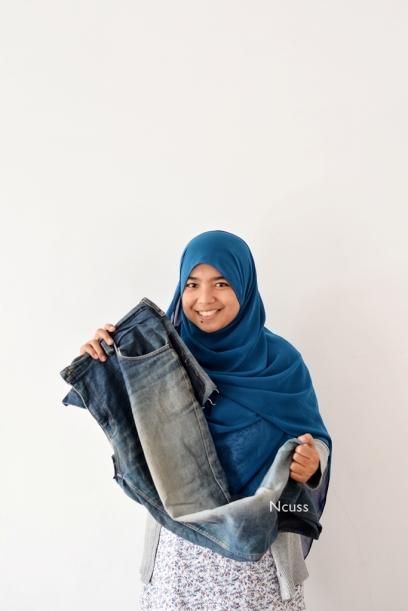 DIY Jeans Bekas jadi Apron