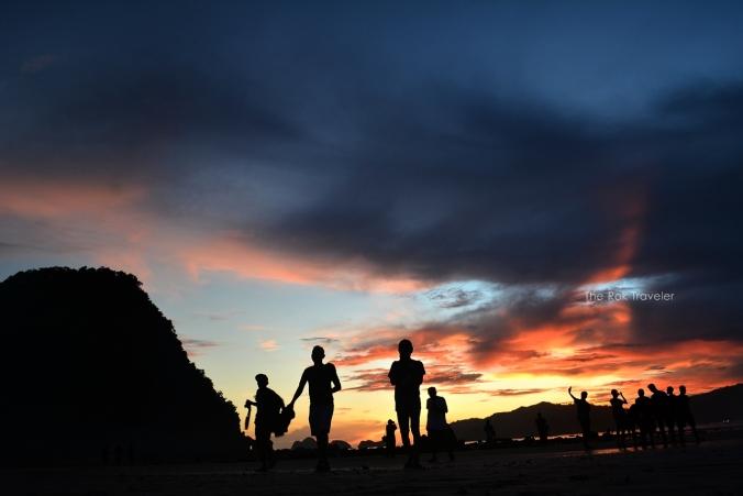 Pantai Pulau Merah Banyuwangi, sunset pantai pulau merah