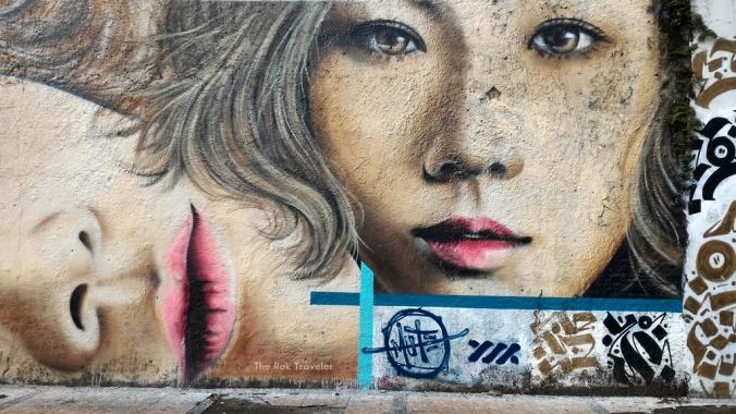 Mural Bandung- Woman Portraits - bagian kanan sekaliii