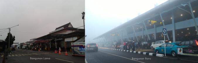 Bangunan Lama (2015) dengan Bangunan Baru (2016) Bandara Husein Sastranegara